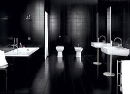 black bathroom ideas lovely large bathroom with wall tiles white sinks and mirror