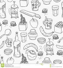kitchen stuff seamless pattern stock illustration image 64960623