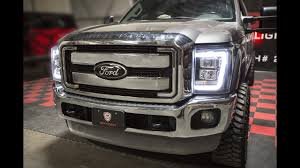 2016 f350 tail lights spyder auto installation 2008 2016 ford f250 led head light youtube