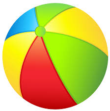 transparent beach ball clipart clipartix