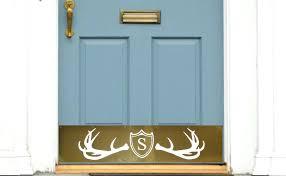 Exterior Door Kick Plate Door Kick Plates Engraved Monogram Plate Fez Lodge Door Kick