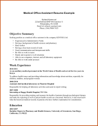 Resume Samples Objective Summary by Objective Summary Example Sop Example