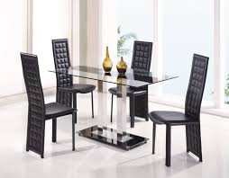 Bassett Dining Room Furniture Chair Bassett Mirror Concorde Round Glass Dining Table W Chrome