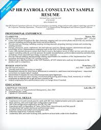 Hr Resume Format For Freshers Sap Crm Resume Samples Sap Hr Payroll Consultant Resume Sample Sap
