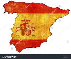 A Map Of Spain by Old Map Spain Flag On Country Stock Illustration 52002640