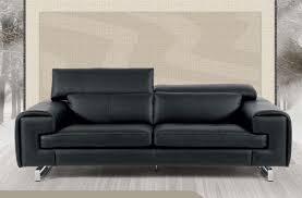 canapé cuir noir canapé 2 places cuir italien noir sofamobili