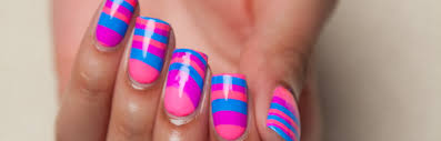 nail art tutorial easy striped water marble nail design