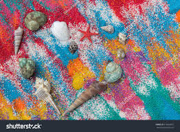 colored sand beautiful heart background on colored sand stock photo 616663073
