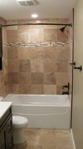 Remodeling Ideas For Small Bathrooms Bathroom Good Looking Brown Tiled Bath Surround For Small