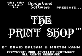 the print shop fonts in use