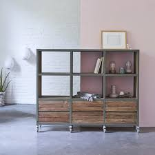 wood bookcases contemporary design wood bookcases tikamoon