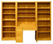 bibliothèque avec bureau intégré meubles de bureau et destinés au multimédia en bois massif