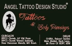 angel tattoo design studio body piercing culture in india