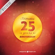 twenty fifth anniversary golden twenty fifth anniversary badge on a background vector