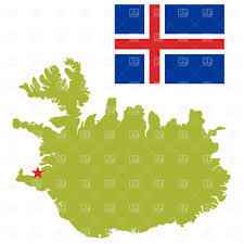 Flag Download Free Iceland Map Outline And Flag Royalty Free Vector Clip Art Image