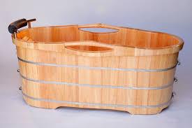 Alternative Bathtubs Alfi Brand Ab1163 61 U0027 U0027 Free Standing Wooden Bathroom Tub With Headrest