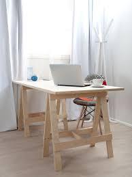 furniture office height and desktop adjustable trestle table