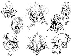 free skull tattoos designs to print cool tattoos designs