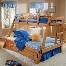 wooden bunk beds twin over full railing special wooden bunk beds