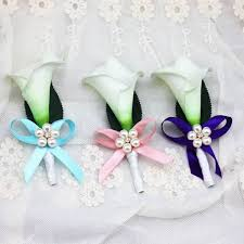 callalily flower new style handmade diy calla flower corsage groom groomsman