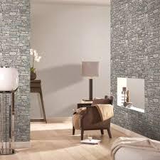Schlafzimmer Gestalten Braun Beige Steinwand Wohnzimmer Beige