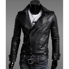 moto jacket mens faux leather moto jacket biker slim fit jacket men