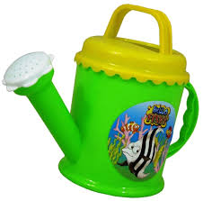 plastic watering can hello fishy green beach sand water bath kids