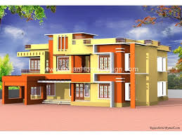 contemporary kerala style 3000 square feet exterior design
