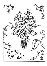 Coloriage Bouquets de Fleurs