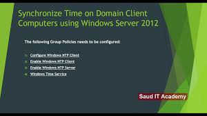 how to synchronize time on domain client computers using windows