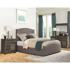 Bed Set With Drawers by Queen Upholstered Storage Bed Set With Nailhead Trim By Hillsdale