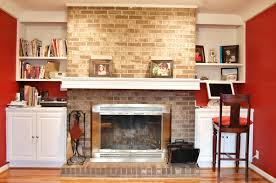 painting brick fireplace ideas pictures mantel painted fireplaces