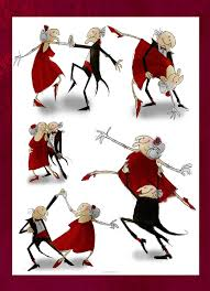 a couple dancing tango cartoon clipart vector toons old couple dance by phelan somethin on deviantart