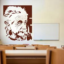 icons celebrity wall stickers iconwallstickers co uk albert einstein scientist icons celebrities wall stickers home decor art decal