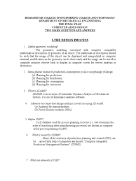 computer aided design 2 mark questions with answers doc finite