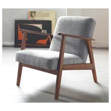 furniture elegant remarkable gray fabric back and wood armchairs