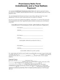 promissory note form interest loans