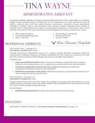 Resume Templates For Administrative Assistant Administrative Assistant Wtfhyd Co