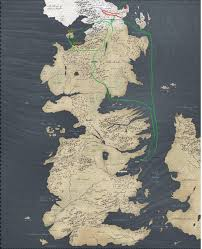 map travel this of thrones map showing jon snow s travels vs the white
