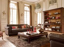 Impressive Vintage Nuance Living Room Marvelous Black Leather Upholstered Sofa Design With