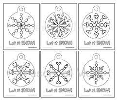 snowflake preschool printables