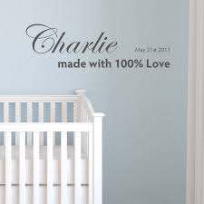 personalised made with love wall sticker by nutmeg personalised made with love wall sticker