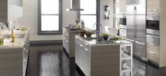 High End Kitchen Cabinets by Engaging Grey Color High End Kitchen Cabinets Featuring Double