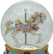 musical carousel snow globe you are my musical