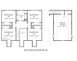 Two Story Bedroom House Plans Stylish Baths Trend Plan With