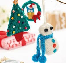 knit christmas knit christmas decorations for snowman owl christmas tree