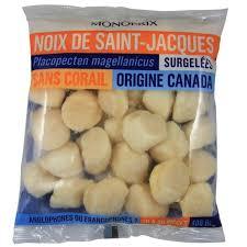 cuisiner les noix de st jacques surgel馥s monoprix noix de jacques sans corail calibre moyen