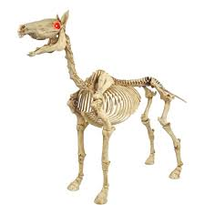 home depot halloween lights home accents holiday 52 in standing skeleton pony with led
