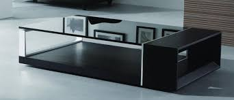 Coffee Tables Black Glass Modern Coffee Table With Black Glass Top Ny 539 00