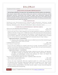 Resume Sample Quality Control by Great Executive Culinary Professional Featuring Career Track For